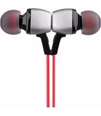 audífonos bluetooth deportivos inalámbricos, m6 auricular sin hilos del deporte audifonos bluetooth manos libres  stereo ear hook magnet earbud (rojo)