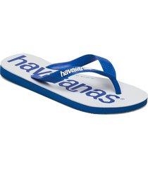 top logomania 2 shoes summer shoes flip flops blå havaianas