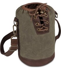 legacy by picnic time insulated khaki green & brown growler tote