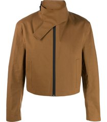 1017 alyx 9sm cropped high neck jacket - brown