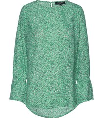 shirt blus långärmad grön ilse jacobsen