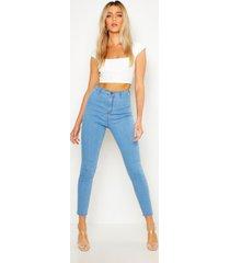 skinny fit disco spijkerbroek, lichtblauw