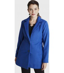 abrigo manga larga azulino lorenzo di pontti