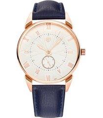 reloj hombres de cuarzo impermeable correa luminosa-azul