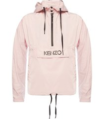 hooded jacket with logo