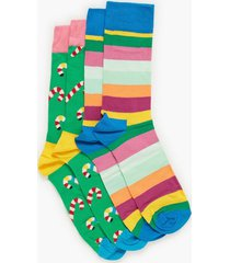 happy socks christmas cracker candy cane gift box strumpor mönstrad