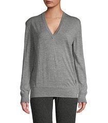 heathered wool sweater