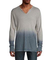 zadig & voltaire men's ombré linen t-shirt - dark grey - size m