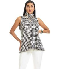 blusa clara arruda tricot abertura costa 20593 feminina