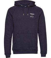 tretorn x makia hooded sweatsh hoodie trui blauw tretorn