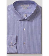 camisa formal rayas azul perry ellis