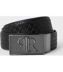 river island mens black rir monogram buckle reversible belt