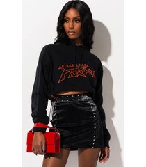 akira all i want studded pleather mini skirt