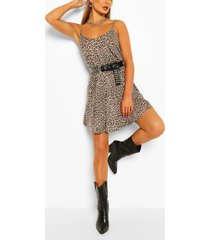 leopard swing dress, brown