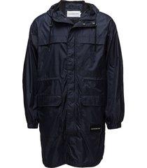 mid length hooded nylon parka parka jas zwart calvin klein jeans