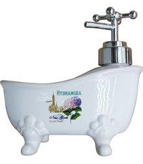 saboneteira banheira de cerã¢mica hydrangea kasa ideia - multicolorido - dafiti