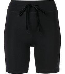 the upside spin velvet shorts - black