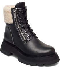 kate - lug sole double zip shearling boot shoes boots ankle boots ankle boot - flat svart 3.1 phillip lim