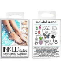 temporary tattoos beach bum pack