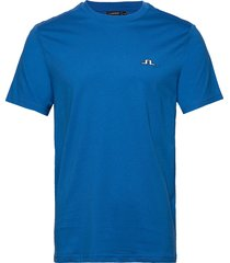 bridge tee-s jersey t-shirts short-sleeved blå j. lindeberg