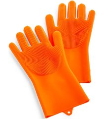 art & cook silicone scrubbing gloves with bristles, set of 2