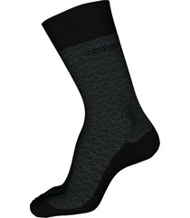 men's boss geo pattern crew socks, size one size - black
