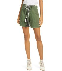 women's the great. the army shorts, size 24 - green
