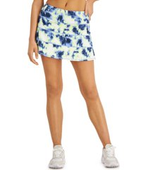 ideology plus size tie-dyed tiered skort, created for macy's