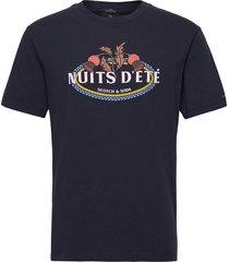 organic cotton jersey artwork t-shirt t-shirts short-sleeved svart scotch & soda