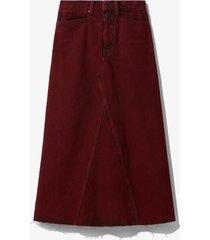 proenza schouler white label bleached denim skirt burgundy bleach/red 8