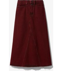 proenza schouler white label bleached denim skirt burgundy bleach/red 6