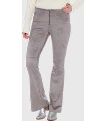 pantalón wados flare gris - calce ajustado