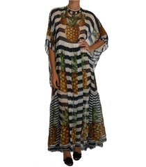 striped pineapple tunic gown maxi dress