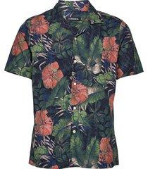 seasonal print ss resort shirt overhemd met korte mouwen zwart j. lindeberg