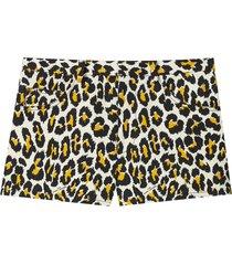 marc jacobs leopard-print shorts - black