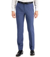 hugo men's modern fit navy blue suit pants