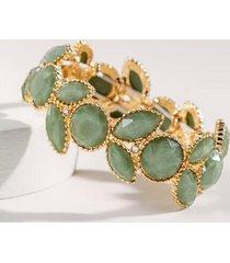casey stone stretch bracelet - olive