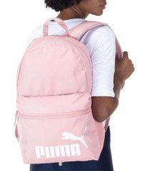 mochila puma phase - 22 litros - rosa claro