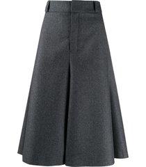 ami paris wide-leg bermuda shorts - grey