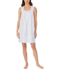 eileen west cotton lace-trim chemise nightgown