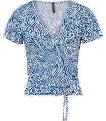 maglia a portafoglio in lenzing™ ecovero™ (blu) - rainbow