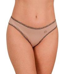 calcinha vip lingerie tanga bege