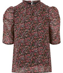 blus vmprinty 2/4 rouching top