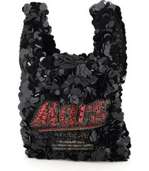 anya hindmarch anya brands mars bar sequins mini tote bag