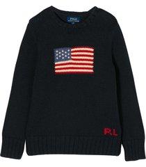 ralph lauren blue t-shirt with flag