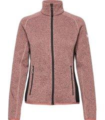 w varde fleece jacket sweat-shirts & hoodies fleeces & midlayers roze helly hansen
