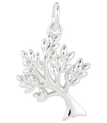 fine silver plated family tree charm
