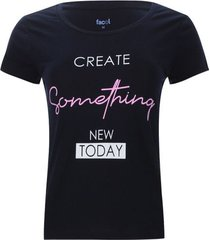 camiseta descanso create something color azul, talla s
