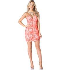 vestido celestine strappy coral