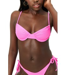 frankies bikinis x naomi osaka maggie glitter bikini top, size medium in cosmos at nordstrom